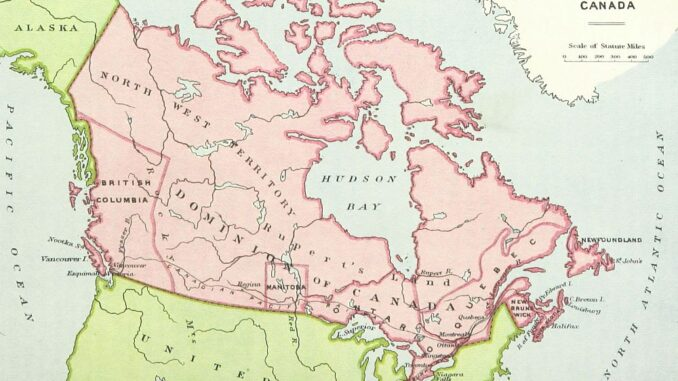 imasge shows a map of Canada